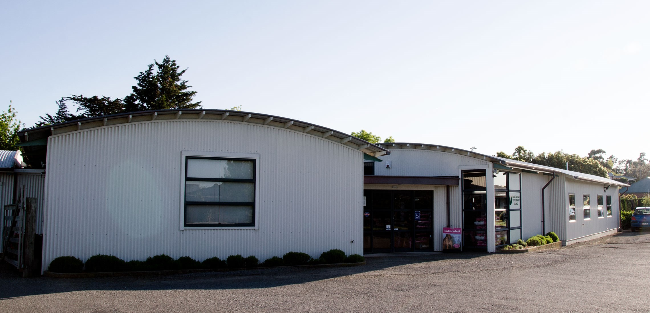 Exterior of the Amberley Vet Clinic