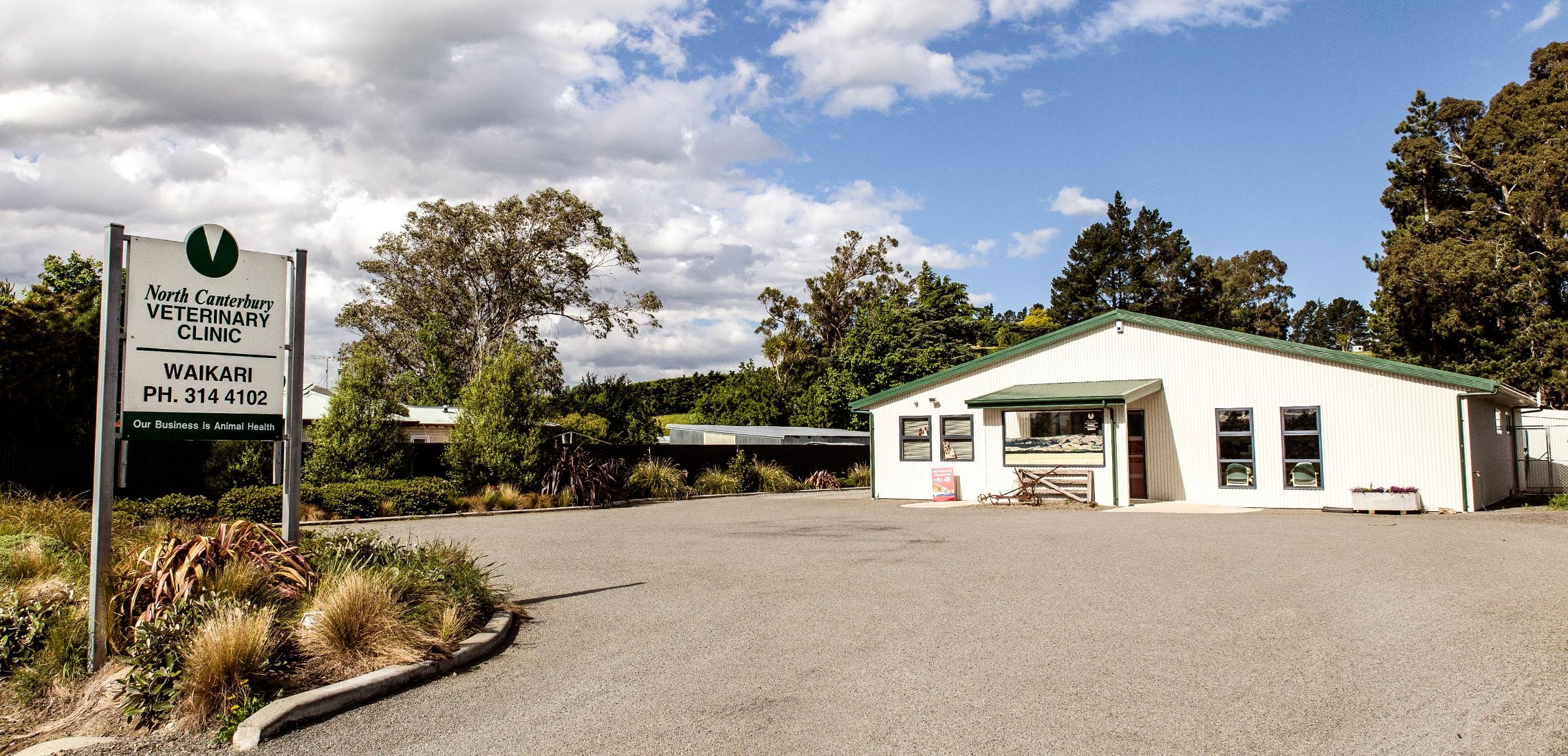 Exterior of the Waikari Vet Clinic